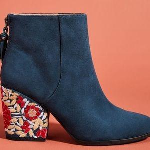 Anthropologie Mojo Maxi Montauk embroidered boots